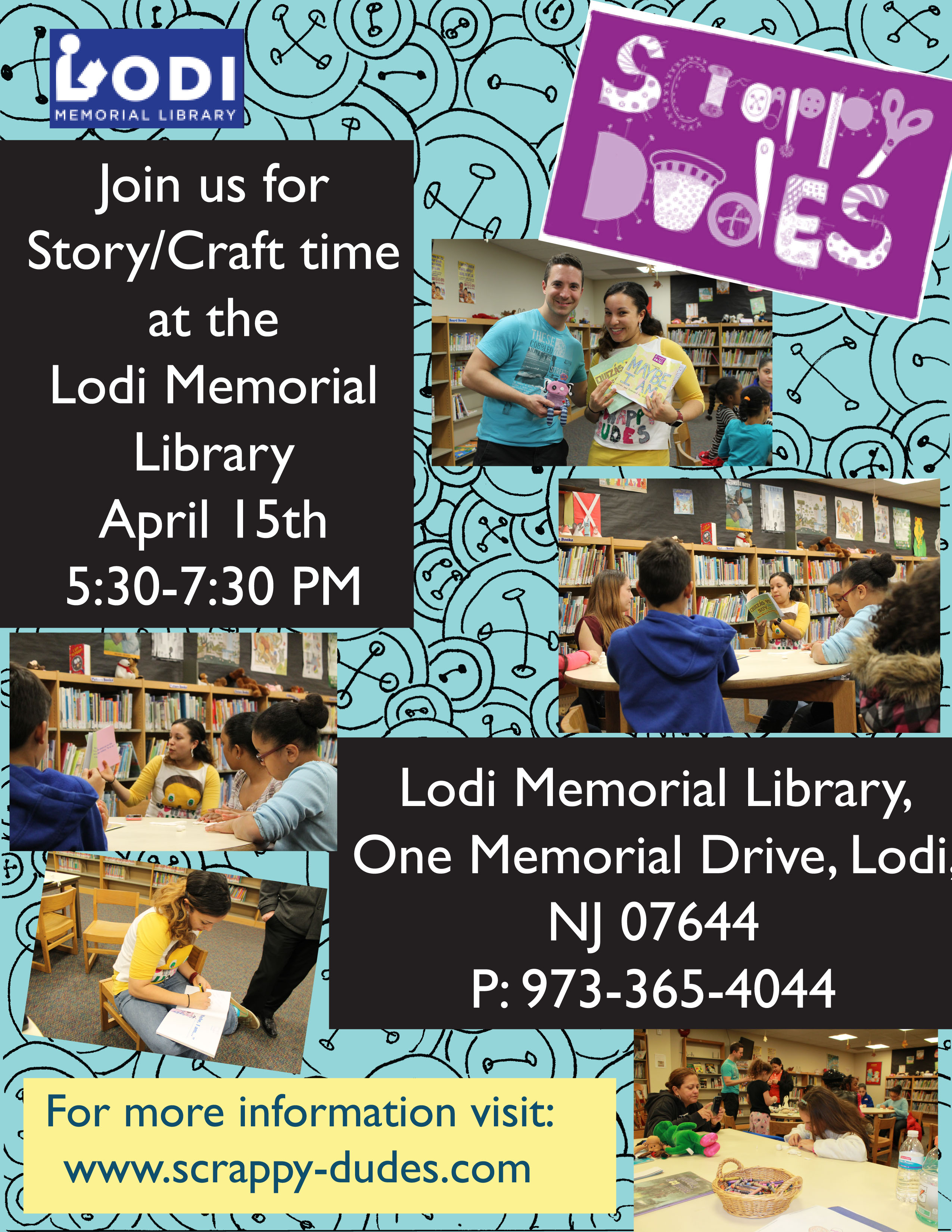 We're Coming Back To Lodi Memorial Library For Another Story Time & Crafts Event!