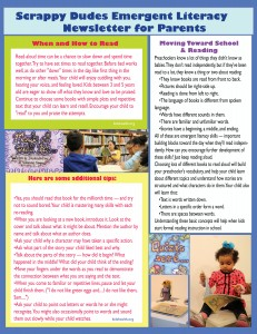 Emergent Reader Newsletter 2