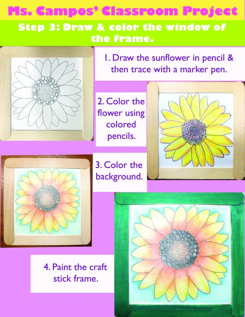 Sunflower in Frame_Step3